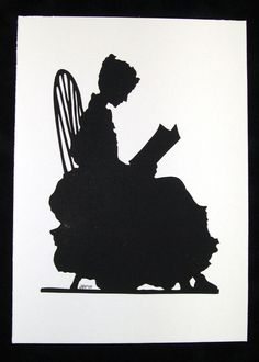 silhouette - reading