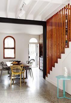 Timber full length banisters.