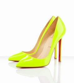 Christian Louboutin Pigalle 120mm Fluorescent Yellow (I need a pair like these)