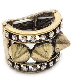 Adjustable 3/4 inch tall spiked/studded ringavailable  @ http://embellishmentproject.storenvy.com