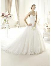 2014 Romantische Brautmode berlin kaufen aus Tüll und Satin A-Linie