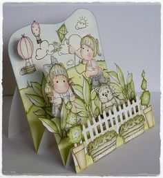 tutorial 3dimension card  I love this cute little 3D card. I am going to HAVE to get that fence die.