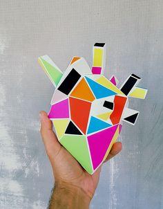 ''Harllequin heart'' #heart #teodosio #cubism #harlequin