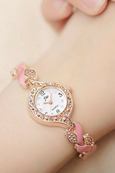 f2a1d7eac4527 Women s Quartz Rose Gold Wrist Watch with Pink Bracelet Waterproof  Stainless Steel