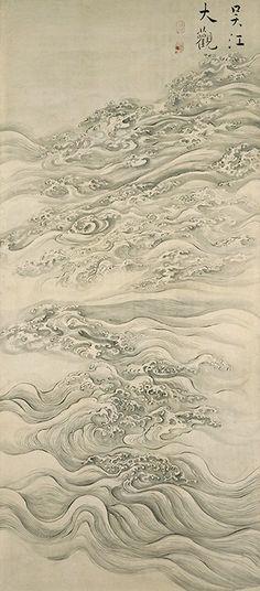 ikeno taiga 池大雅 1769 Impressive View of the Go River 呉江大観図
