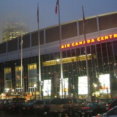 Air Canada Centre - Toronto - Home of the Maple Leafs and Raptors. Another neat arena. Never saw a game there but did get to see the inside. My Adventure Book, American Airlines Center, Air Canada Centre, Toronto Travel, Ice Castles, Toronto Maple Leafs, Landscape Photos, Billboard, Ontario