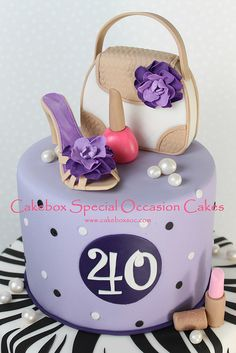 40th Birthday Cake by cakeboxsoc