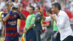 The other side of FC Barcelona's visit to the Sánchez Pizjuán. Haha! Neymar and Luis Enrique ;P | FC Barcelona