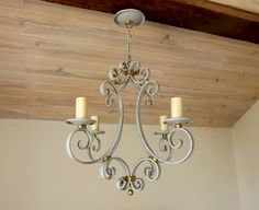 French iron chandelier vintage distressed hand by Daisyrootsfrance
