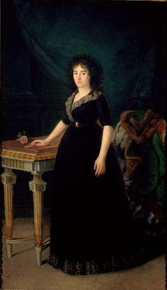 Retrato de la Condesa de Castro Terrano c. 1800 by Agustin Esteve