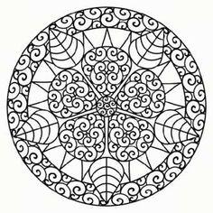 круглые мандалы для разрисовки карандашами распечатать