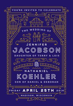 Jenn & Nate Wedding Invite on Behance