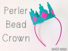 DIY Perler Bead Crown by Maker Mama