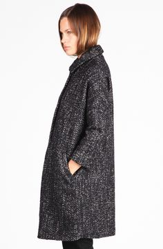 Alp Wool Coat by Samuji Its Cold Outside, Wool Coat, Bellisima, Minimalist Fashion, Black And Grey, Winter Fashion, Normcore, High Neck Dress, Style Inspiration