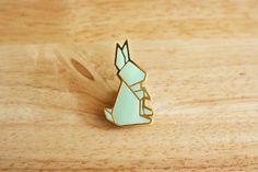 Origami bunny pin