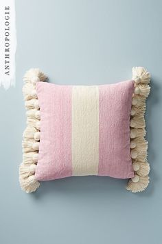 Give your cushions an upgrade. These pillows are perfect for a spring bedroom.