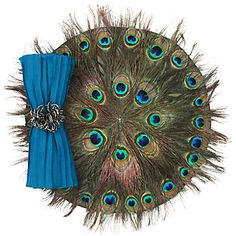 Peacock Feather Placemat - Set of 4 | Table-linens | Tabletop-and-bar | Z Gallerie