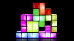 Tetris lamp. It's made up of individual pieces that light up only when stacked.