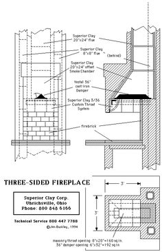 Fireplace construction details and dimensions fireplace for Fireplace construction plans