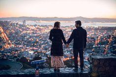 Sunrise engagement at Twin Peaks | Photo by Evangeline Lane | 100 Layer Cake