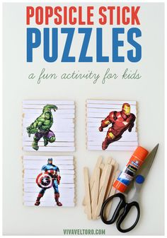 Your E-Organization - Employ An Accountant Or Do It Yourself Diy Popsicle Stick Puzzles. A Super Cute Craft Activity To Do With Your Kids This Summer Spon Diy Crafts To Do, Cute Crafts, Diy Craft Projects, Kid Crafts, Children Crafts, Craft Ideas, Indoor Activities For Toddlers, Family Activities, Popsicle Sticks