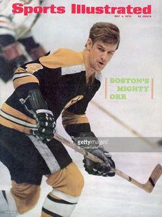 May 4, 1970 Sports Illustrated Cover.Hockey: NHL Playoffs: Boston Bruins Bobby Orr (4) in action vs Chicago Blackhawks at Boston Garden. Game 3.Boston, MA 4/23/1970CREDIT: Neil Leifer
