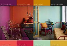 The Plascon Colour Forecast for 2014 has arrived via Elle Decoration - love this Urban Tribe theme Colour Pallette, Colour Schemes, Color Trends, Color Combos, Beautiful Interiors, Colorful Interiors, Plascon Paint Colours, Paint Colors, Beautiful Color Combinations