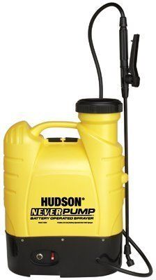 H. D. Hudson - NeverPump® Bak-Pak Sprayers Neverpump Bak-Pak - Sold as 1 Each by H. D. Hudson Products. $159.73. H. D. Hudson - NeverPump® Bak-Pak Sprayers Neverpump Bak-Pak - Sold as 1 EachExtra large fill opening prevents spills when adding chemical. Braided power sprayer-style hose. Large poly on/off valvecomfortable, thumb operated. Bonus nozzle system includes 4 different nozzles. Lead acid battery sprays for 10 continuous hours on a single chargeApplicable...