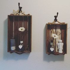 Candle Sconces, Wall Lights, Clock, Candles, Lighting, Home Decor, Wooden Crates, Watch, Appliques