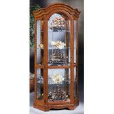 "Lighthouse Stafford II Curio Cabinet by Philip Reinisch Co. Old oak finish  78"" H x 39"" W x 13"" D	113 lbs $928.20"