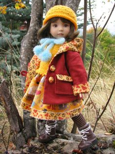 """~HERE KITTY!~ by Tuula fits Dianna Effner 13"""" Little Darling to a """"t""""!"""