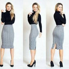 Womens Fashion For Work Professional Attire Office Outfits Ideas Classy Work Outfits, Casual Skirt Outfits, Business Casual Outfits, Mode Outfits, Office Outfits, Work Casual, Fashion Outfits, Business Attire, Chic Outfits