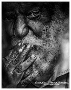 Old  Man - Creative Art in Sketching by Abaa Shewale in Portfolio Pencil Portrait  at Touchtalent