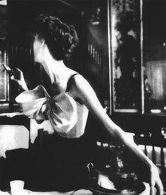 Lillian Bassman, Across the restaurant,dress by Jacques Fath, Barbara Mullen Le…