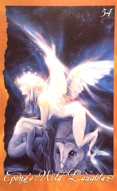 Epona's Wild Daughter, from The Faerie' Oracle, by Brian Froud and Jessica MacBeth Brian Froud, David Hockney Art, Angel Cards, Wedding Art, Oracle Cards, Magical Creatures, Animal Tattoos, Fantasy Art, Fantasy Fairies