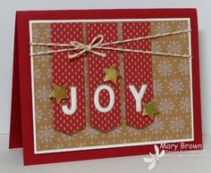 Here's a fun little card I made using the wonderful Under the Tree specialty dsp, the Little Letters Framelits and the GREAT sketch on Create with Connie and Mary.  So fun and easy!  All the details on my blog... http://stampercamper.com/2014/11/27/joy-2/