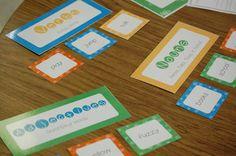 Parts of Speech First Grade Activity