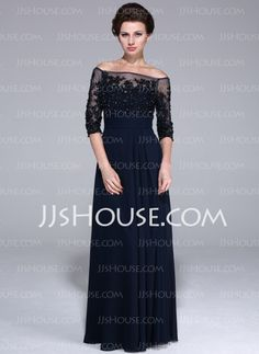 Mother of the Bride Dresses - $156.99 - A-Line/Princess Off-the-Shoulder Floor-Length Chiffon Tulle Mother of the Bride Dress With Lace Beading Sequins (017025450) http://jjshouse.com/A-Line-Princess-Off-The-Shoulder-Floor-Length-Chiffon-Tulle-Mother-Of-The-Bride-Dress-With-Lace-Beading-Sequins-017025450-g25450?no_banner=1_source=facebook_medium=post_campaign=6005941673279_content=130814J_14