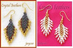 Free Beaded Earring Patterns | Crystal Feathers earrings