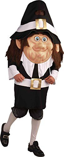 UHC Mens Pilgrim Parade Pleaser Mascot Funny Theme Adult Halloween Costume OS -- For more information, visit image link.
