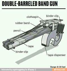 Double-barreled band gun.