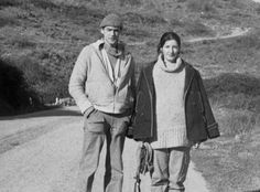 A young Marina Abramovic and Ulay.