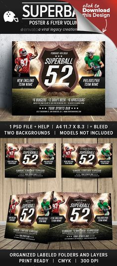 american football, bar promotion, championship, football, football flyer, football poster, football template, Game Day, gameday, lombardi, party flyer, party poster, promotional flyer, promotional template, sports flyer, sports poster, sports template, super bowl, super bowl template, superball, Superbowl Flyer, the big game, viral legacy This poster and flyer is designed to assist in the promotion of a football sporting event or social gathering. It contains both sporting elements to…