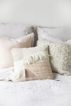 Muted Neutrals Pillows For Bed Via Design Love Fest Throw Decorative