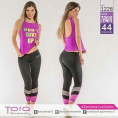 REF:1228 Blusa y #leggings  #EntrenaConEstilo #FitnessFashion #ToraBrasil #GymWear #modadeportiva