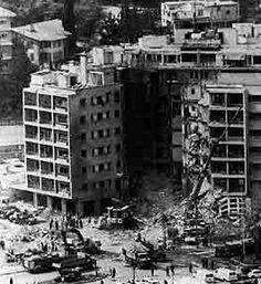 Beirut, Lebanon. 1983: The US embassy bombing that killed 63.