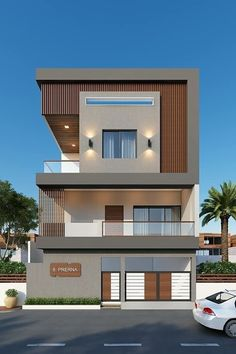 Modern House Designs In Punjab Home by Egmdesigns – gedangrojo. Modern Exterior House Designs, Unique House Design, House Front Design, Modern House Plans, Exterior Design, 3 Storey House Design, Bungalow House Design, Architectural House Plans, House Elevation