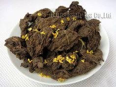 #breakfast #healthy 2004 year Fragrant Osmanthus Lao Cha Tou Puerh,250g Old Tea Tugget,Aged Loose pu'er,Pu er,herbal/flower tea,PL02H22,Free Ship