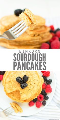 Sourdough Pancakes (Using Leftover Sourdough Starter Discard) Paleo Pancakes Almond Flour, Sourdough Pancakes, Sourdough Recipes, Sourdough Bread, Baking Recipes, Real Food Recipes, Healthy Recipes, My Best Recipe, Savoury Cake