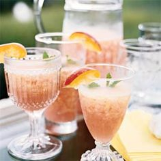Must-Serve Frozen Drinks  | Peach Fuzzies | MyRecipes.com